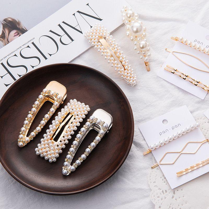 Modelo de moda Perla Flor Pieza de metal Niños Dr Diseño coreano Princ Cabello Accories 923