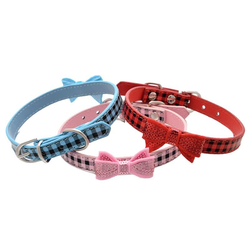 Hot Bling Kristall Strass PU-Leder-Haustier-Hundehals Welpen-Katze-Halskette für kleine Hundehalsband Perro Tierzubehör