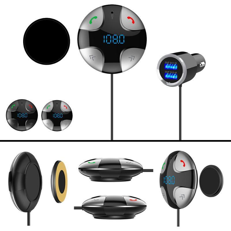 Bluetooth Araç FM Verici Ses Adaptörü Alıcı Kablosuz Hands Free Araç In-Car-Bluetooth