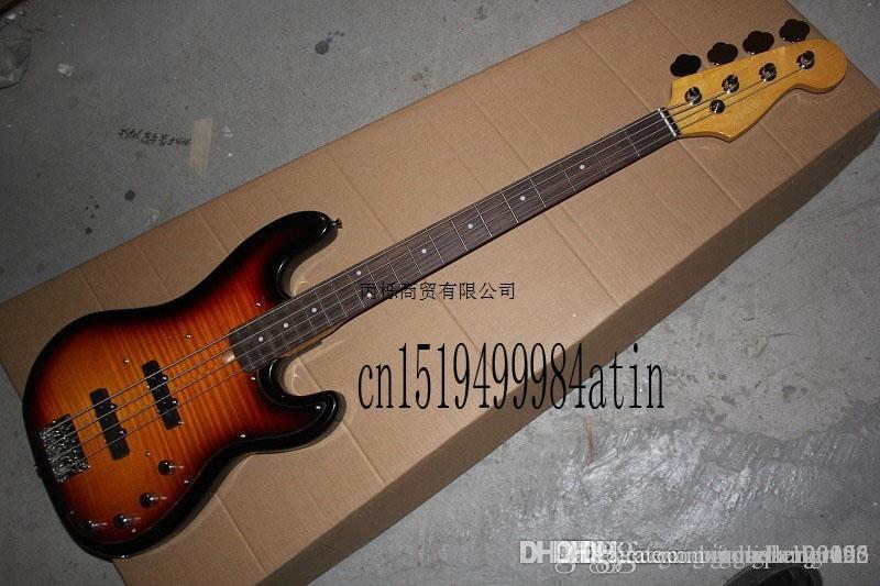 Livraison gratuite Top Qualité Custom Shop 4 cordes initiative guitare basse à Precision Bass guitar En stock