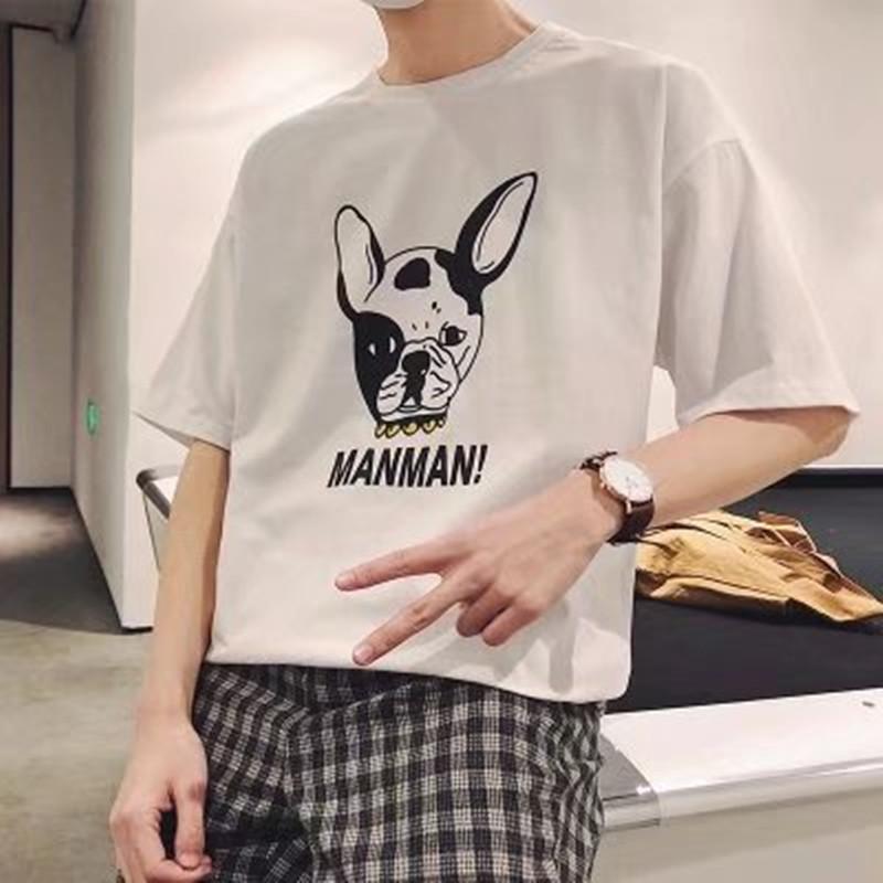Aberdeen Kısa Kollu Erkekler 2018 tişört Kore tarzı Trend Mürettebat Boyun Öğrenciler Yaz Slim Fit Elbise Yarım Kol Tişört Erkekler'S W