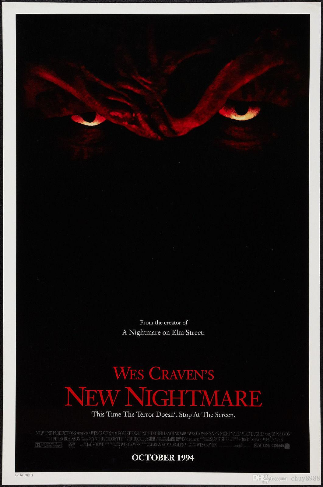 Horror: A New Nightmare Movie By Wes Craven Art Silk Print Poster 24x36inch(60x90cm) 015