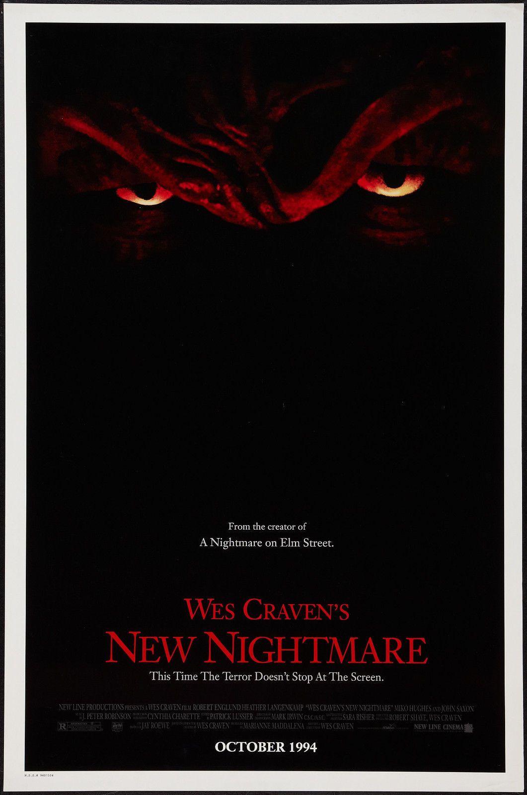 Korku: Wes Craven Sanat İpek Baskı Poster Tarafından Yeni Bir Kabus Film 24x36 inç (60x90 cm) 015