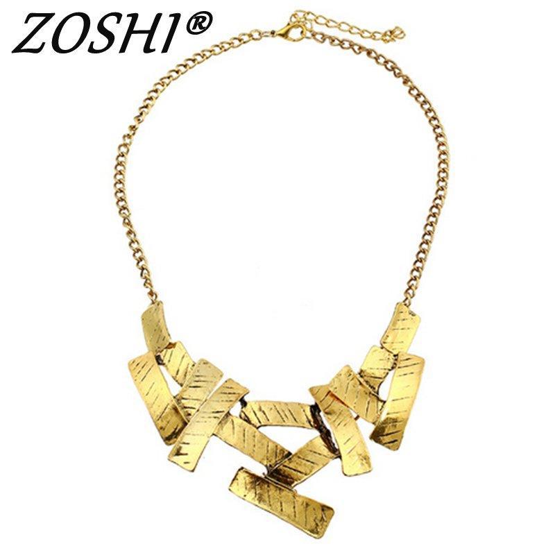 Vintage Women Gold Charm Chain Statement Bib Necklace Pendant Jewelry Gift