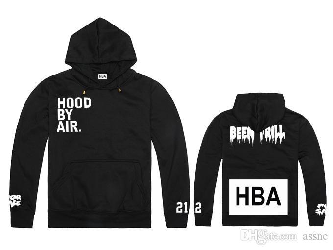O envio gratuito de nova capa por via aérea pago integralmente hoodie do HBA pif com um capuz moletom outerwear Hip hop marca desinger hoode