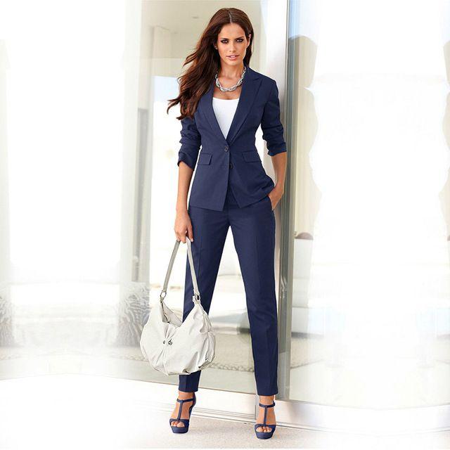 Trajes de pantalón de mujer Damas de oficina trajes de negocios Slim Fit por encargo Nuevo estilo Tuxedos para bodas trajes de trabajo de oficina formal uniforme