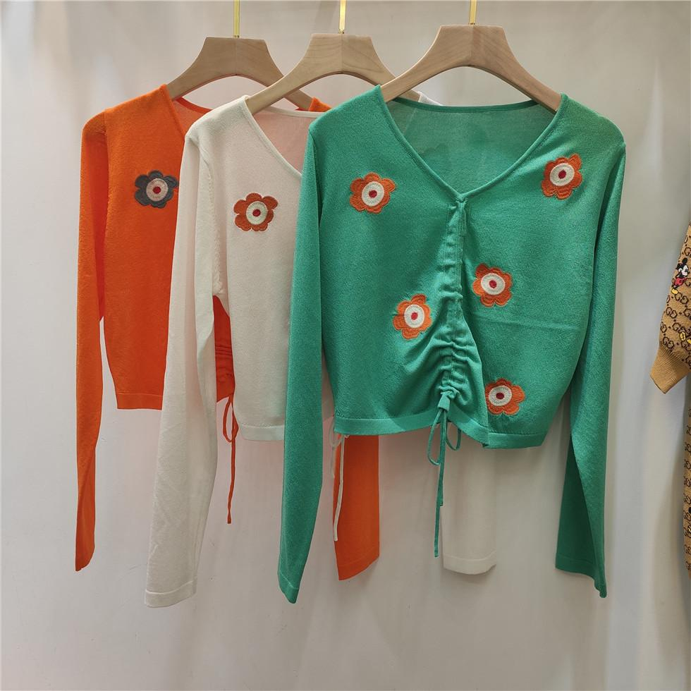 505 2020 Sommer-Frauen Pullover Regular Long Sleeve Crew Neck Panelled Marke gestreifte Pullover Frauen Kleidung Qian