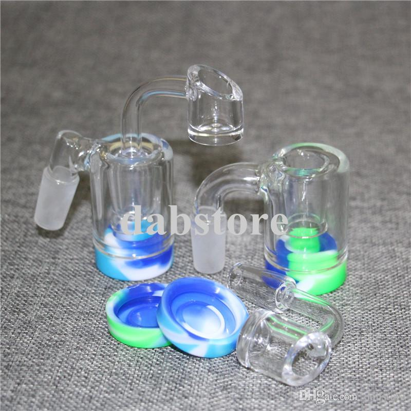 hot sale Glass Ash Catcher Bowls With Male 14mm Joint Bubbler Glass Ashcatcher bong ash catcher Silicone wax Container