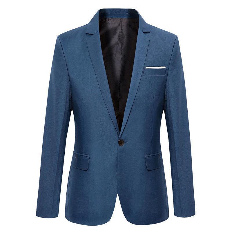 Новый плюс размер костюм Мужские пиджаки формальные мужская slim fit одна кнопка костюм Blazer бизнес-блейзеры мужчин