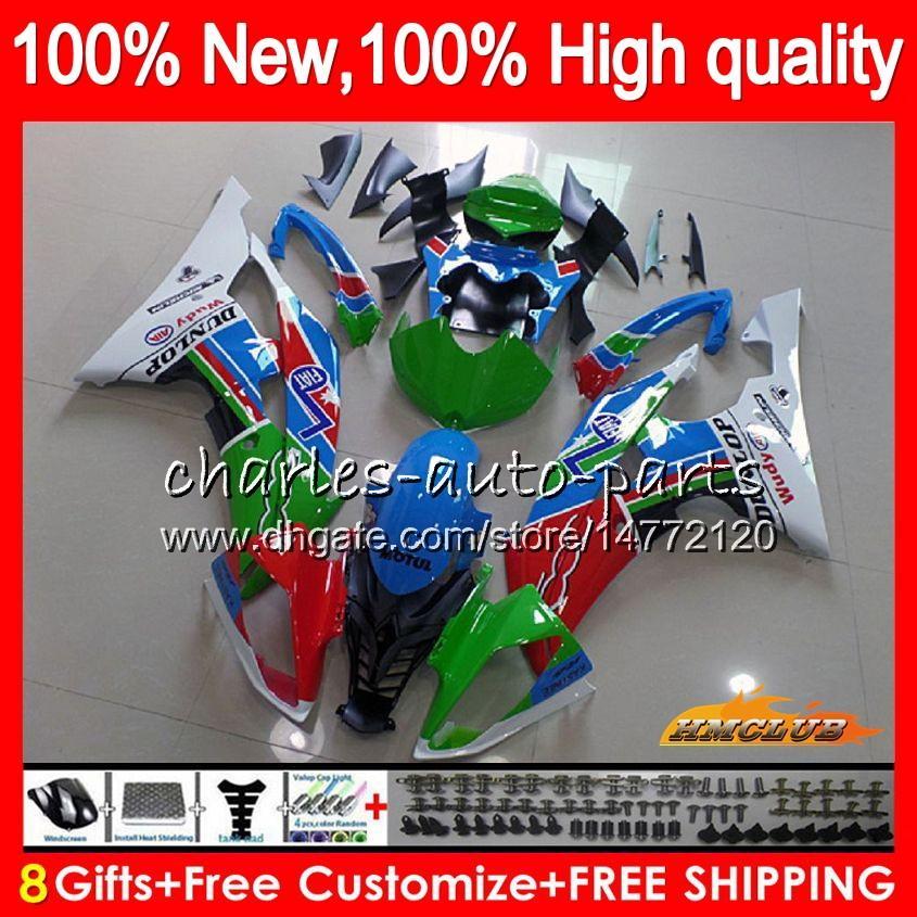 Corps YAMAHA YZF600 bleu vert chaud YZF R6 YZFR6 2008 2016 68HC.45 YZF 600 R 6 CC 600CC YZF600 YZFR6 08 09 10 11 12 13 14 15 16 carénages