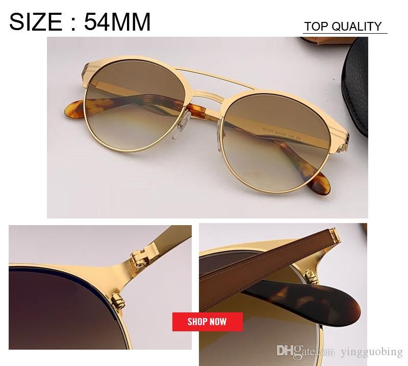 2019 diseñador de calidad superior Moda Mujer Gafas de sol ovaladas Nuevo gradiente espejo hombres moda Gafas de sol rd3545 Oculos uv400 gafas de metal