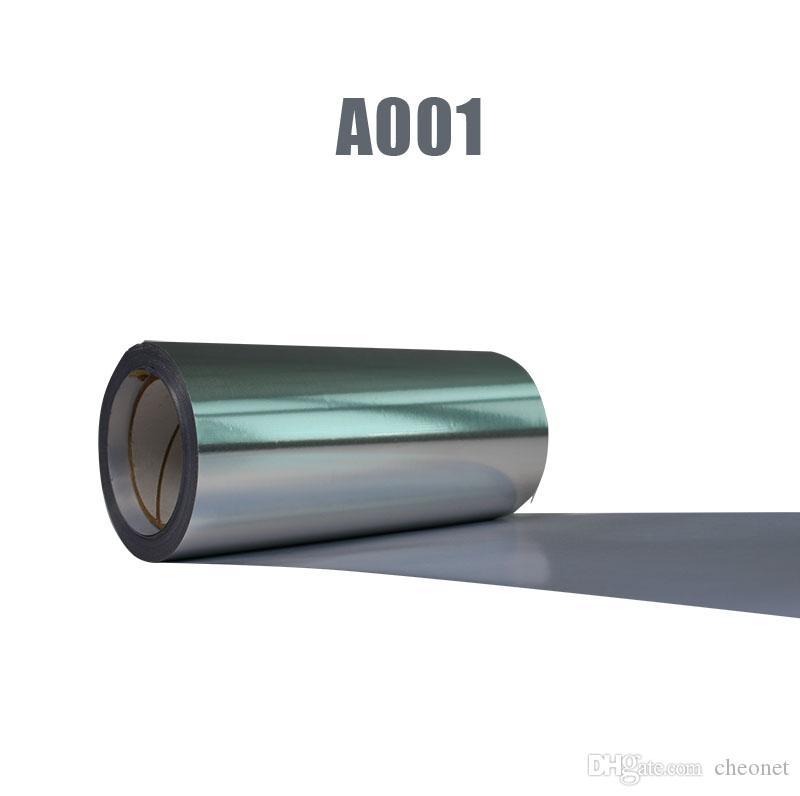 1 ورقة 25 سنتيمتر x100 سنتيمتر المعدنية الفضة الهولوغرام نقل الحرارة الفينيل ل آلة الصحافة الحرارة تي شيرت الحديد على بيع طباعة HTV!
