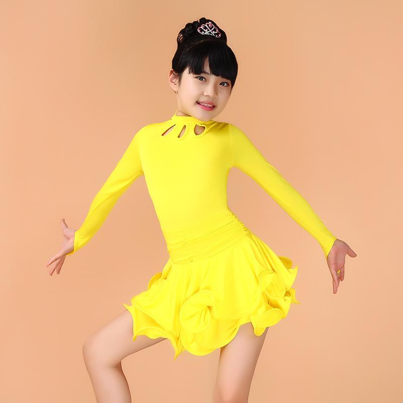 танцевальные наряды для детей латинские костюмы для детей профессиональные девушки детская одежда латино сальса танго озеро синее танцы