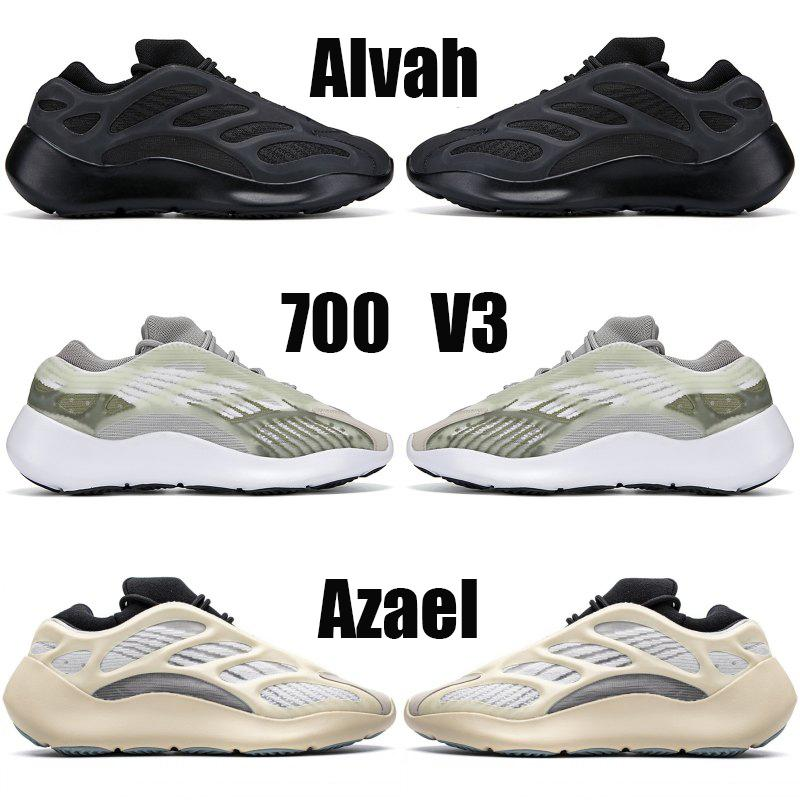 Kanye West 700 azael Alvah koşu ayakkabıları Glow koyu beyaz siyah erkek eğitmenler kadın moda spor tasarımcısı sneakers ABD 5-11