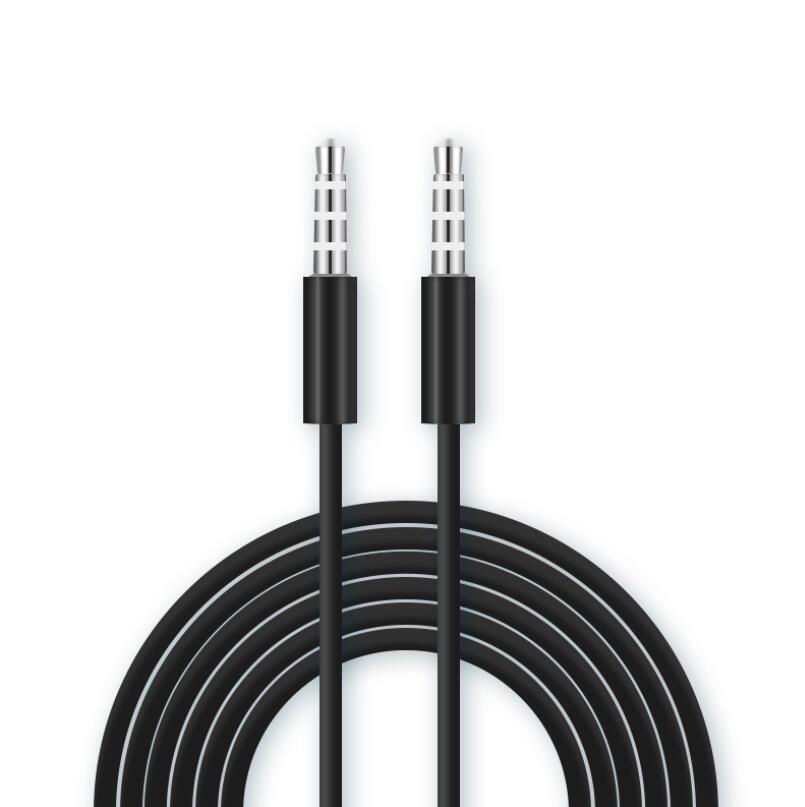 Aux câble 1m 3FT Blanc Noir Aux Câble jack 3,5 mm Câble audio stéréo Cordon auxiliaire pour MP3 PC casque