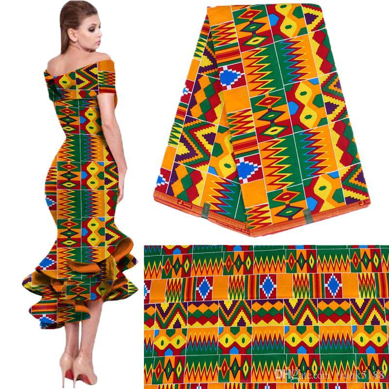 Новая одежда из хлопка национального стиля набивных тканей обычного геометрической печать оптовой African способ изысканных ткани свободный корабль