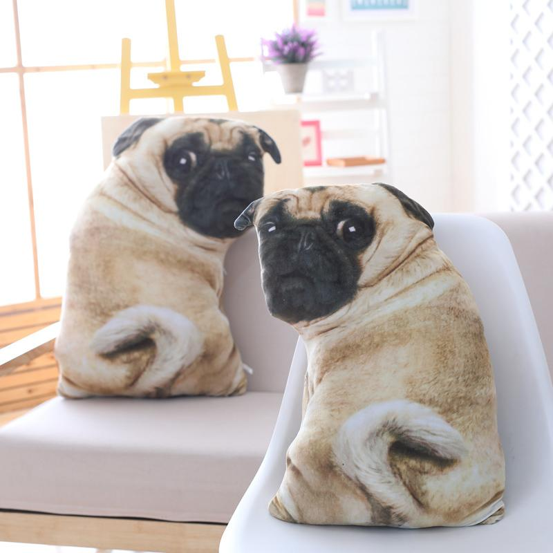 Simulation Dog Plush Pug Toys Soft Lifelike Stuffed Animals Shar Pei Pug Plush Pillow Dolls Sofa Cushion Kids Girls Gift
