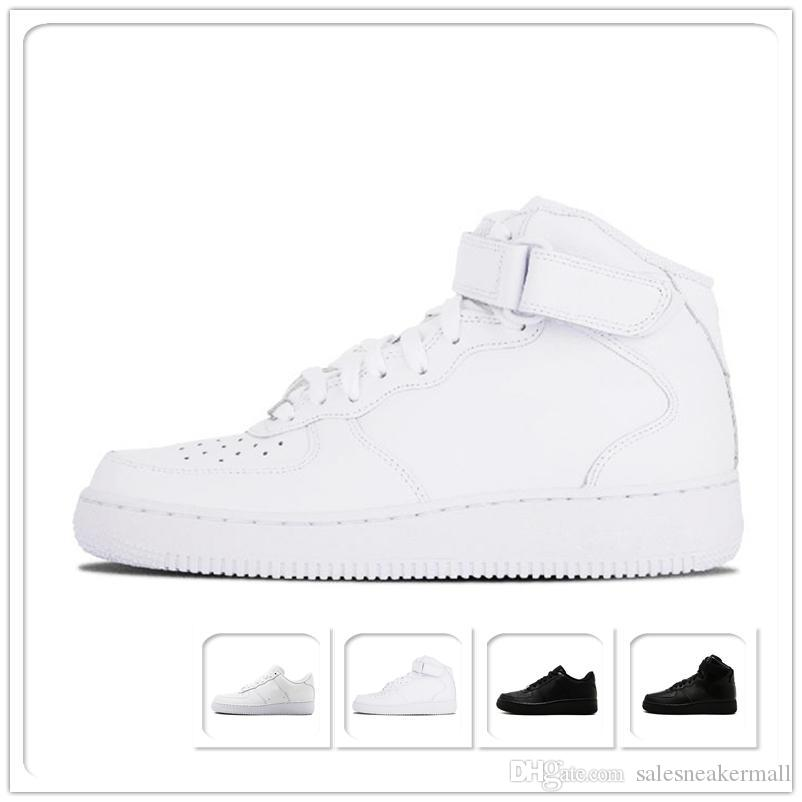 2019 Top NEW Design One 1 Dunk Running Shoes Brand For Men Women Sports Skateboarding High Low Cut White Black Wheat Trainers Sneakers 36-45