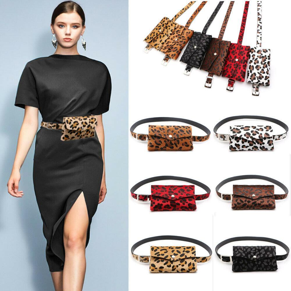 New Lady Women PVC Waist Fanny Pack Belt Bag Mini Purse Pouch Travel Hip Bum Bag