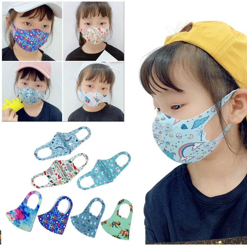 Face Mask Kids Cartoon Printed Mouth Mask Boys And Girls Dustproof Infant Breathable Protective Mask XHH9-3034