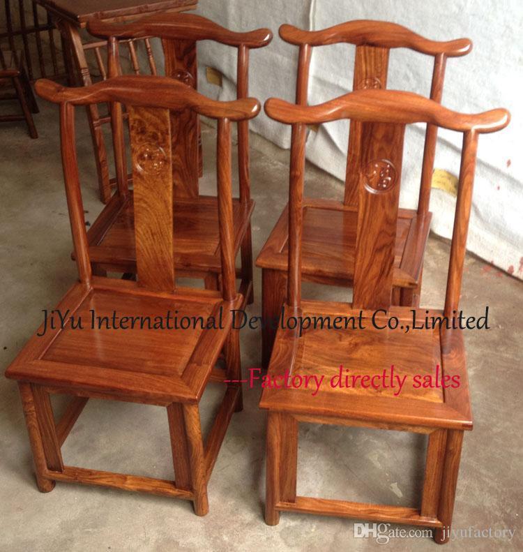 Silla casera en el estilo antiguo de los muebles del alto-grad del sándalo rojo africano del 100% para el uso lujoso