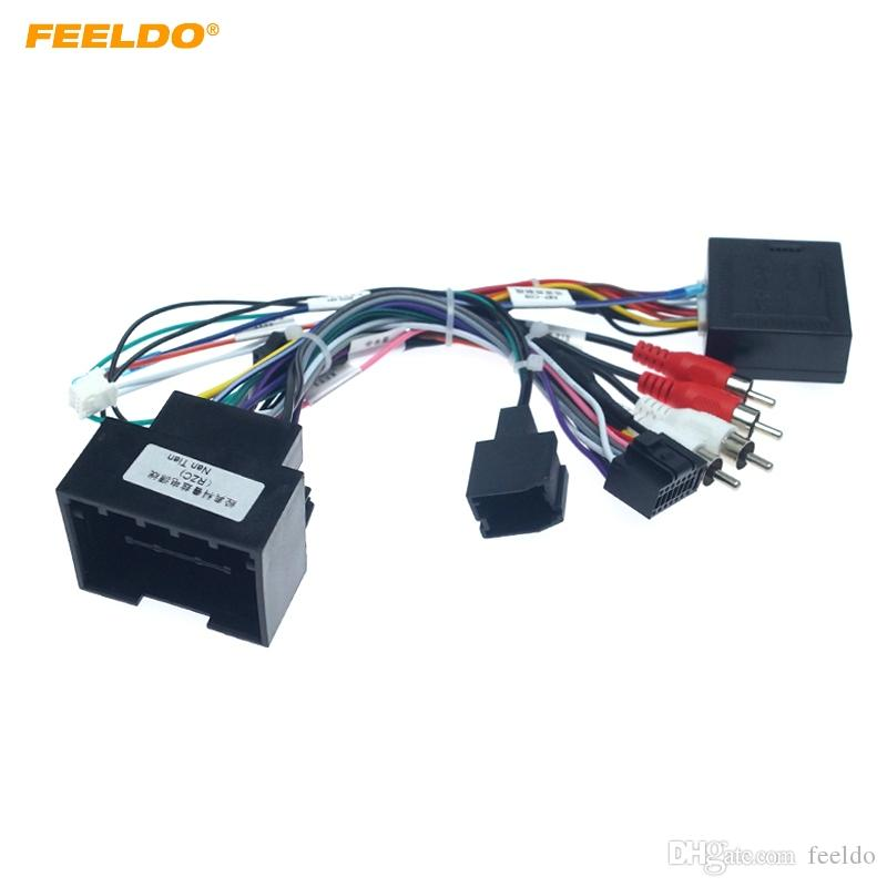 FEELDO Car Media Player Radio 16pin Android Fils avec Canbus Box pour Chevrolet Trax Cruze Aveo Buick Regal Power Cable # 4785