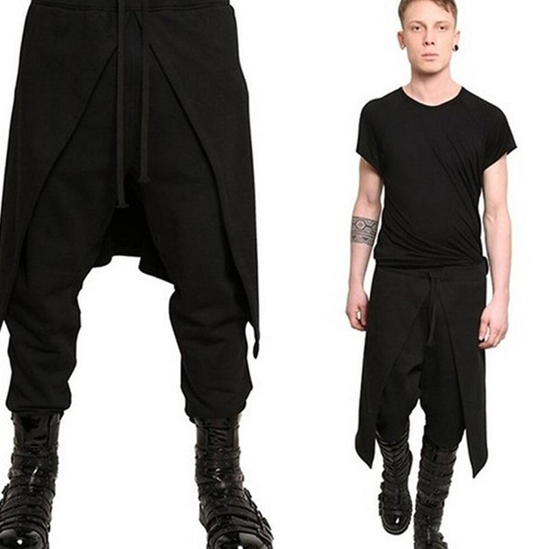 Men's Pants 2021 Long Casual Fashion Personality Stitching Loose Sweatpants Plus Size