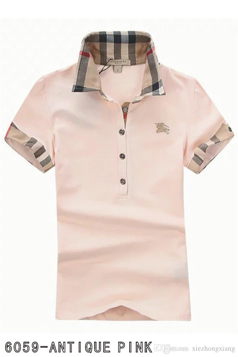 Le nuove signore del Regno Unito di marca di estate del progettista della camicia Ladies T-Shirt Camicia casual stile maglietta di cotone a maniche corte T-shirt formato s-xxl # A02