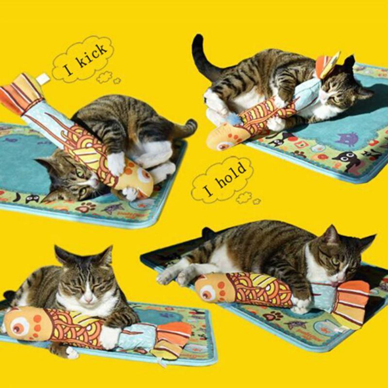 Rechinar Los Dientes Gatito Catnip Juguetes Divertidos Interactivo De La Felpa Del Gato Del Animal Dom/éstico Mastica La Vocal Juguete Garras Del Pulgar Mordedura De Gato Menta para Perros Gato de Inte