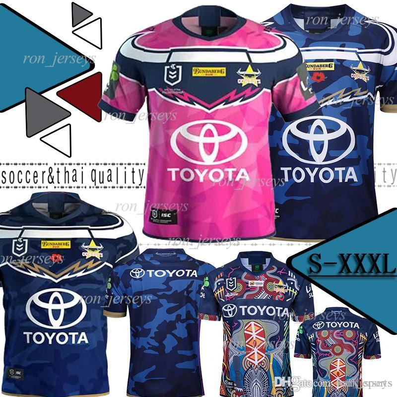 2019 North Queensland VAQUEIROS Rugby Jersey Cowboys 2019 Homens Defesa Indígena Jerseys Johnathan Thurston 2018 Depoimento Premiership