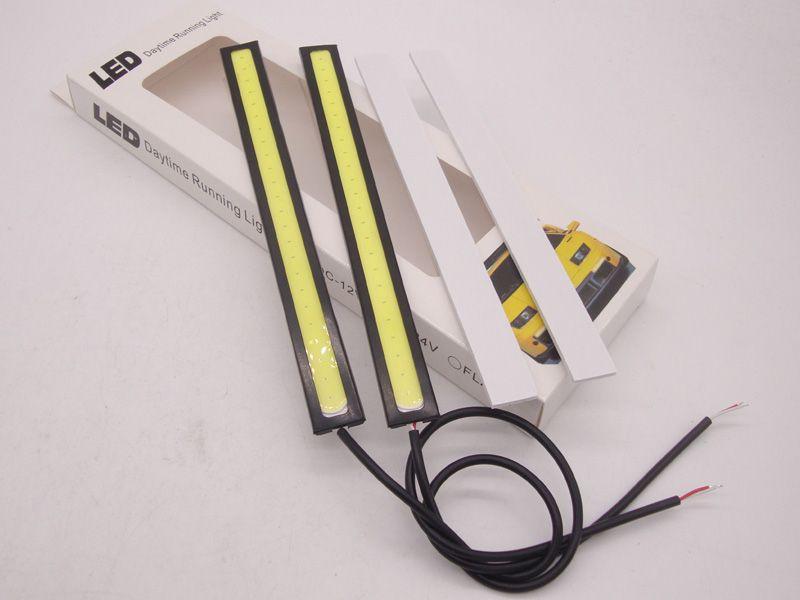 17CM LED COB DRL Daytime Running luz DC12V externo impermeável Branco Car Styling Car Light Source Estacionamento Nevoeiro Bar Lamp Bulb