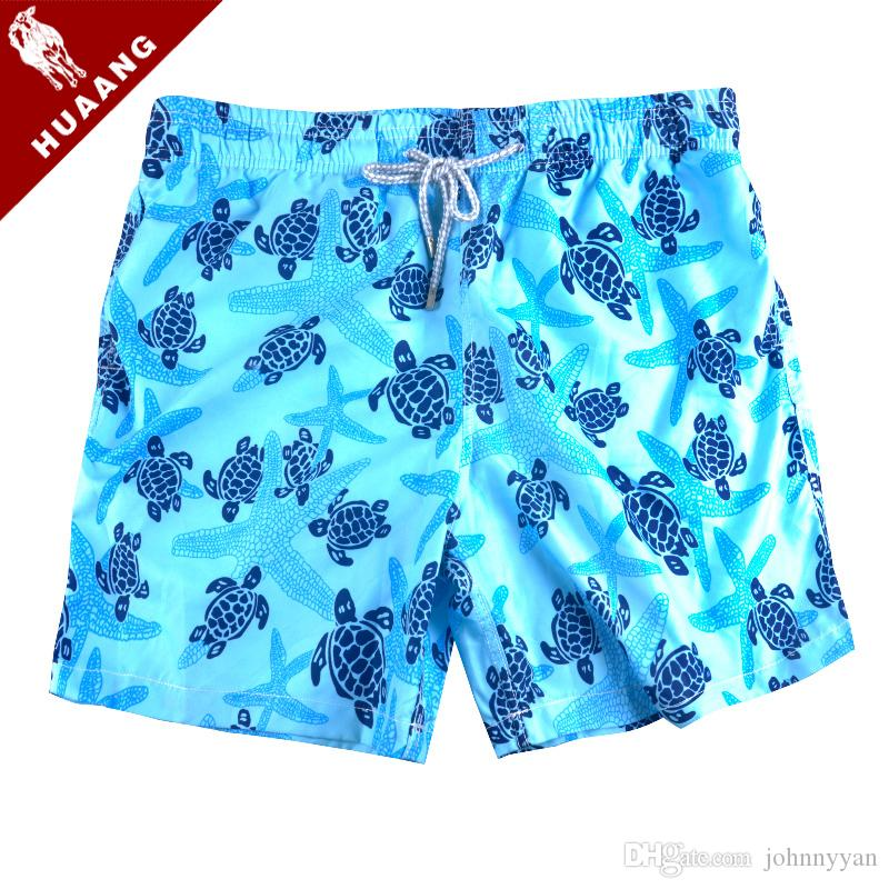 Praia Board Shorts de Verão Vile Marca Turtle Homens Impresso Bermuda Mens Swimwear Board Shorts Quick Dry Sports Boxer Shorts Troncos de banho