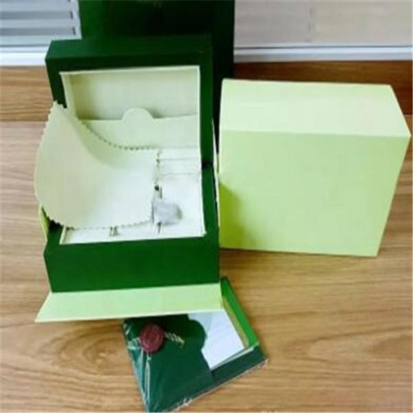 Hommes Montre Boîte Intérieure Mans Extérieur Montres Papiers Carte Portefeuille Boxescases Hommes Rol Boîte Green Livraison Gratuite