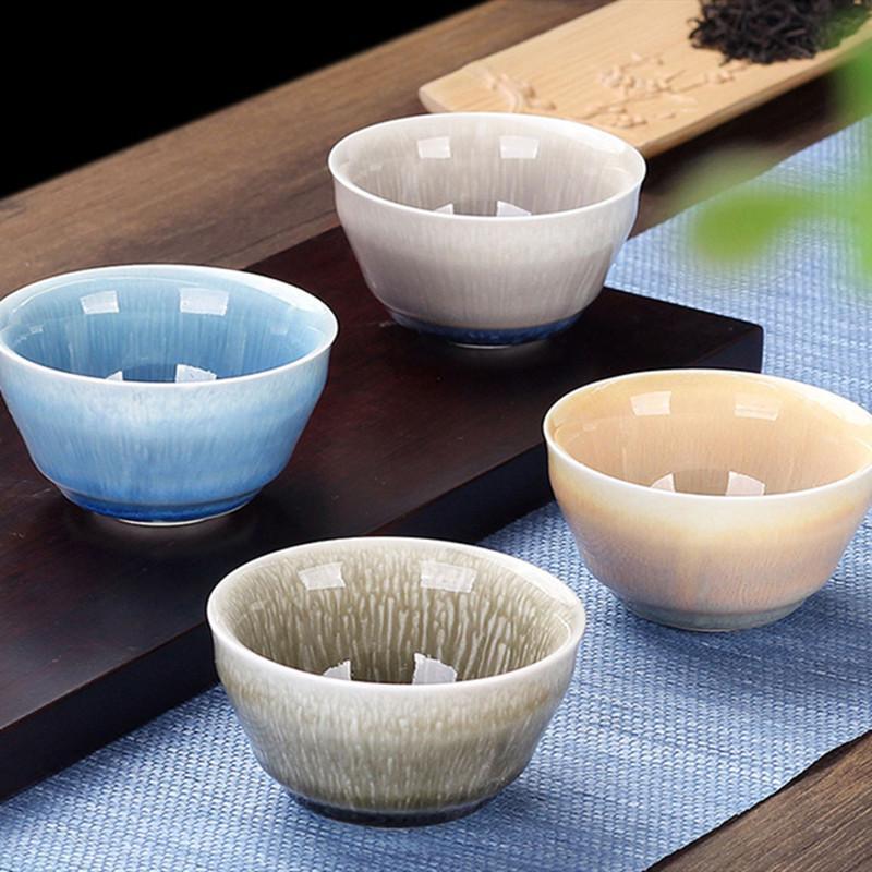 Vintage Ceramic Tea Cup Kiln Change TeaCup Master Cup Celadon Kung Fu Tea Set Small Tea Bowl For Teaware