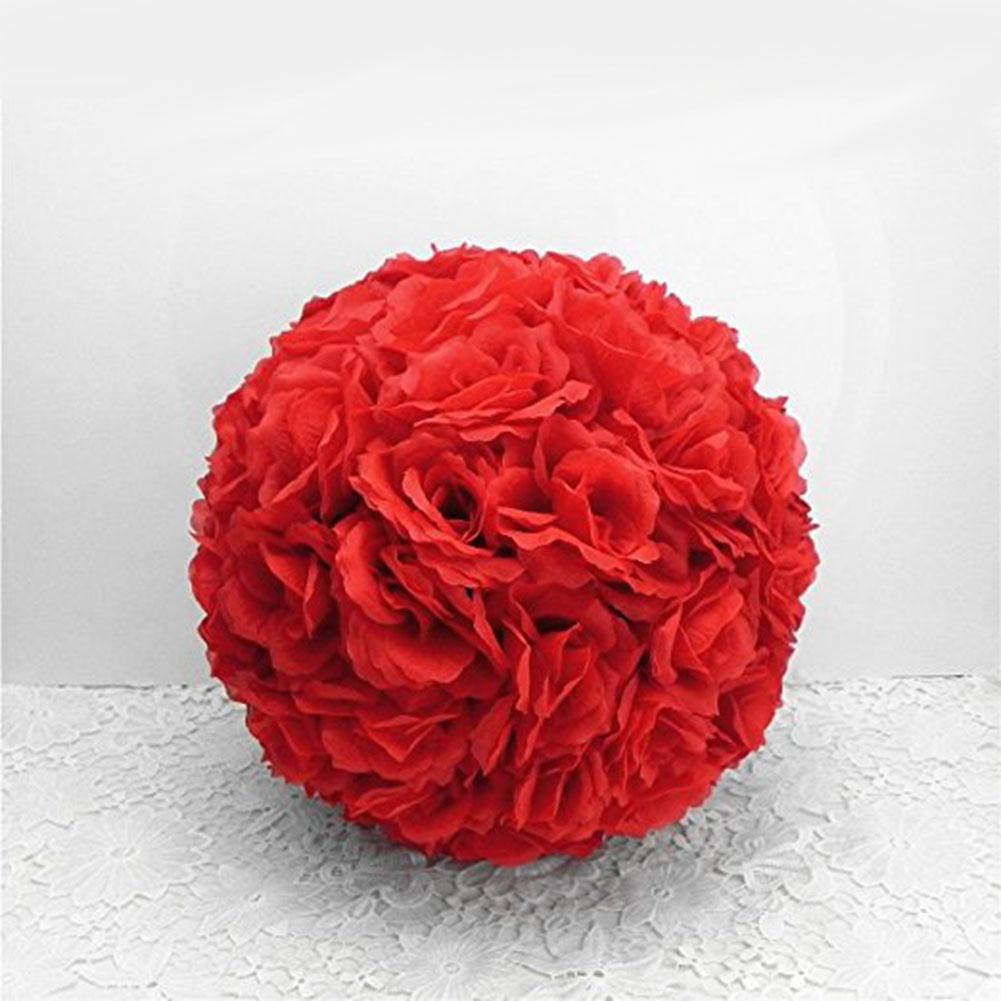 Vente Hot New Hot vente de haute qualité Taille couleur les plus sélects Rose Pomander Fleur Embrasser Boule Party Decoration Meilleur prix cadeau