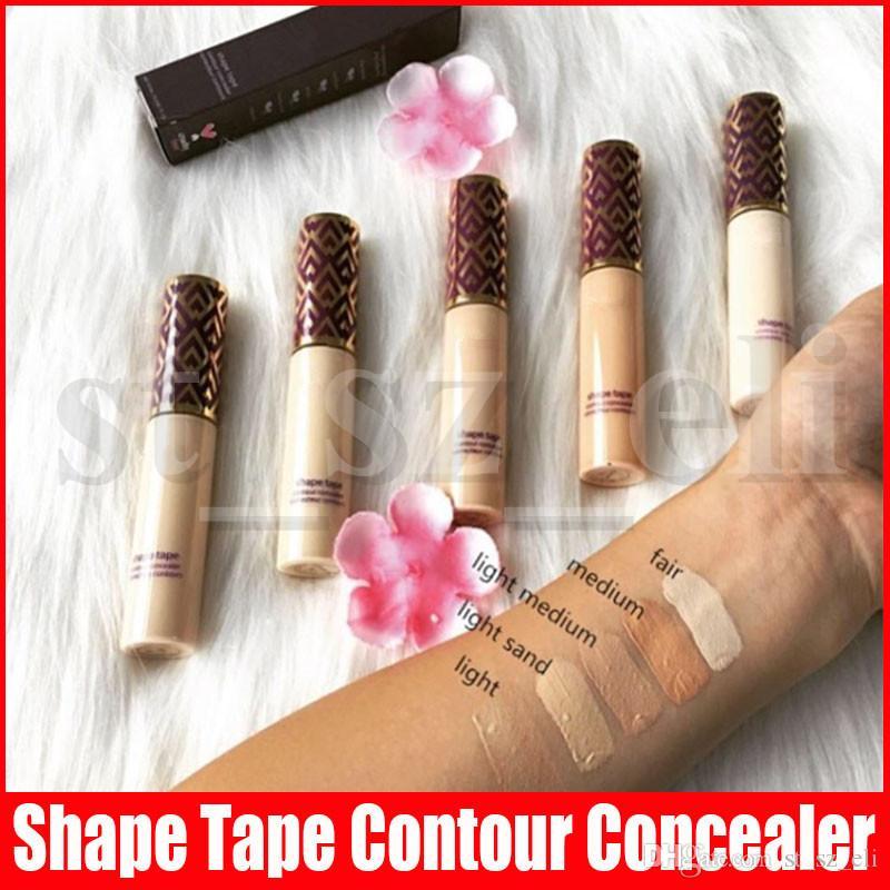Face Makeup Concealer 5 colors Shape Tape contour Concealer Fair Light Light medium Medium Light sand 10ml liquid foundation