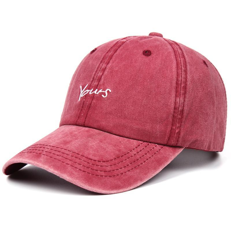 2020 Nuovo Lavato Alphabet ricamo Berretto da baseball uomini e le donne alla moda Hip-Hop cappello selvaggio Coppia cappello di modo del cappello di sport jMQeb