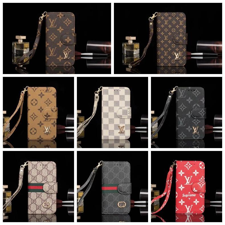 impressão marca caixa do telefone de couro Designer para iphone 11 pro max X XS Max XR 6 6s 7 8 mais cartão da carteira Capa Shell A19