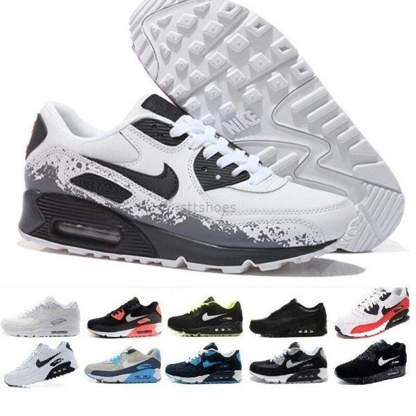 New Cushion Air classic 90 Men womens Casual Shoes Max 90s Sneakers Surface Breathable Black Red White Running Sport Athletic Trainers