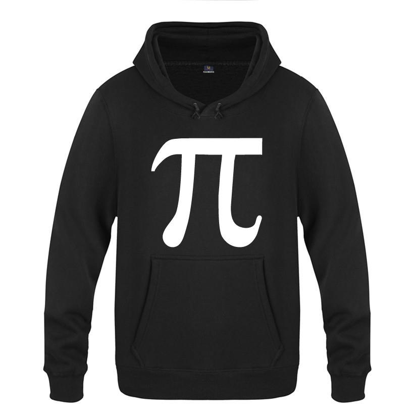 Klassische Math Science Pi Brief Kreative Hoodies Männer 2018 Herren Pullover Fleece Mit Kapuze Sweatshirts