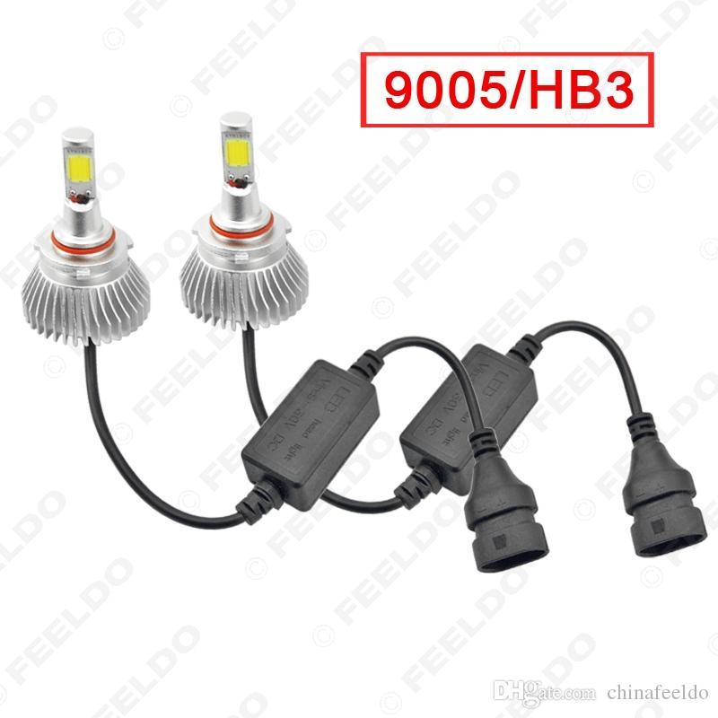 Super White 9006 60W 6400LM Auto COB LED-Scheinwerfer Satz-Nebel-Lampen-Birnen-Licht-Xenon 6000K # 2405