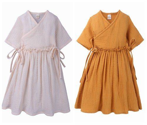 Compre Baby Girl Vestidos De Verano 2019 Ropa De Algodón Vestidos De Niñas Boutique De Ropa Para Niños Niño Con Cordones Hasta El Vestido Liso Suave