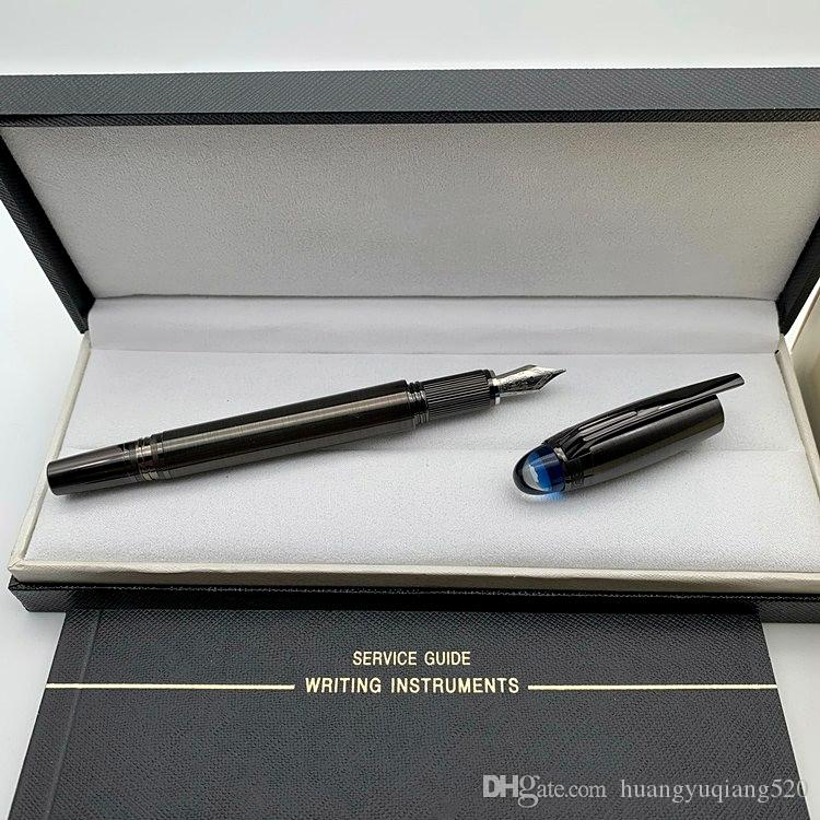 Luxo caneta Nova chegada Star-walker MB caneta roller ball / canetas esferográficas escritório papelaria Marca caligrafia tinta da pena de fonte
