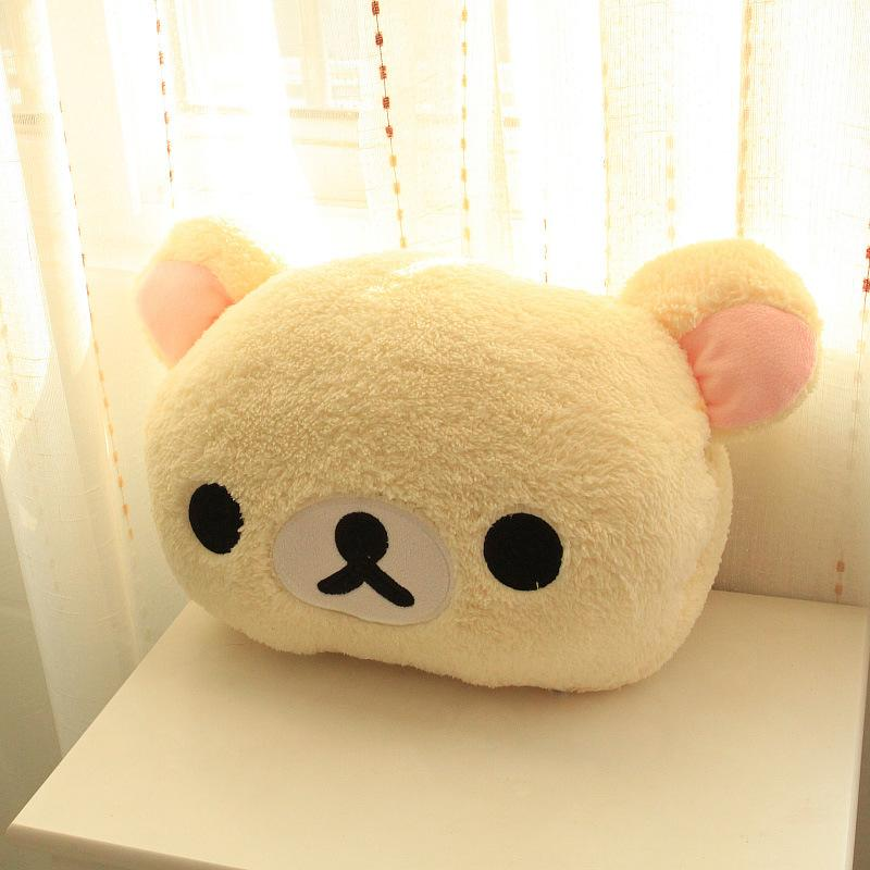 Cute Rilakkuma Yello Chicken Plush Toys Stuffed Soft Cartoon Toy Warming hands in Winter Gifts for Girls Christmas Gifts Y200111