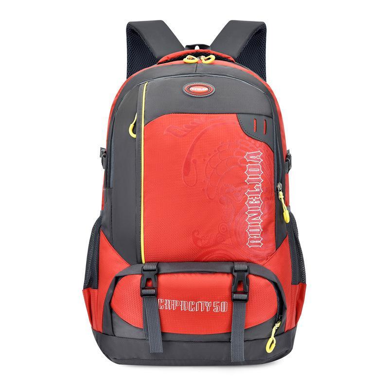 50L Mochila impermeable de deportes al aire libre bolsa de viaje Mochila Montañismo Senderismo Escalada Trekking camping Caminata paquete de bolsa