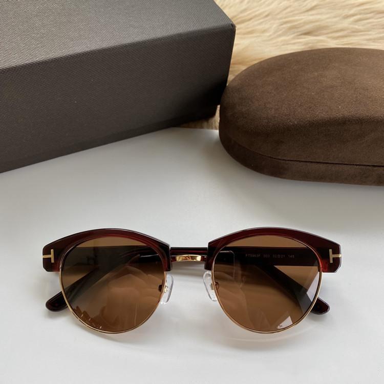 2020 الموضة للجنسين FT5963 الحاجب جولة الاستقطاب النظارات الشمسية ذات جودة لوح + معدنية لprescripiton نظارات fullset التعبئة وجودة عالية