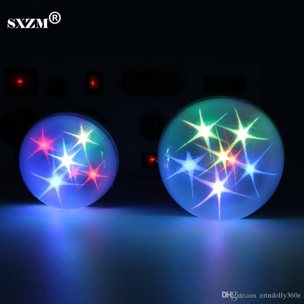 SXZM E27 LED ampuller AC85-265V Led Sahne Işıkları RGB renk Romantik KTV Düğün Parti Işık kapalı dekorasyon Küresel lamba