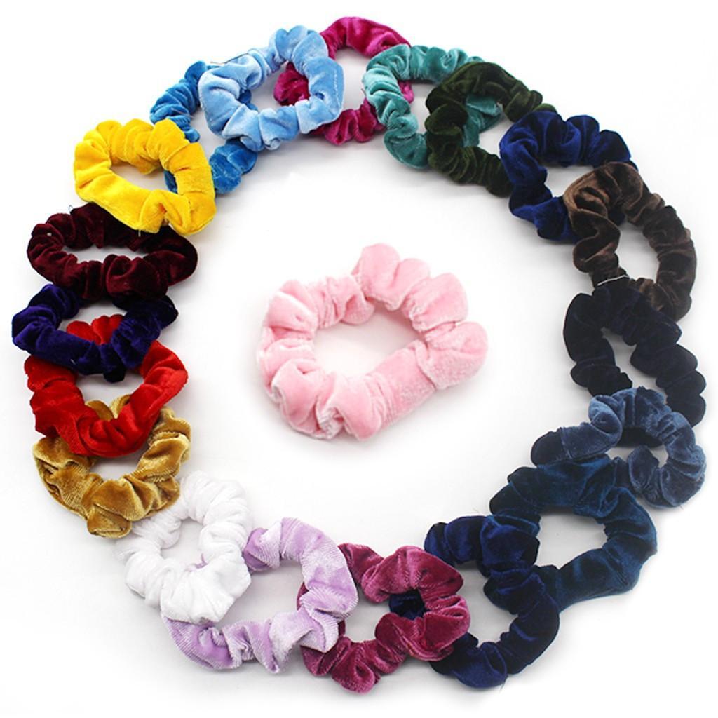 Бархатные резинки для волос 20 шт. Резинки для волос Бархатные резинки Резинки для галстуков Веревки Резинки для волос для женщин или девочек