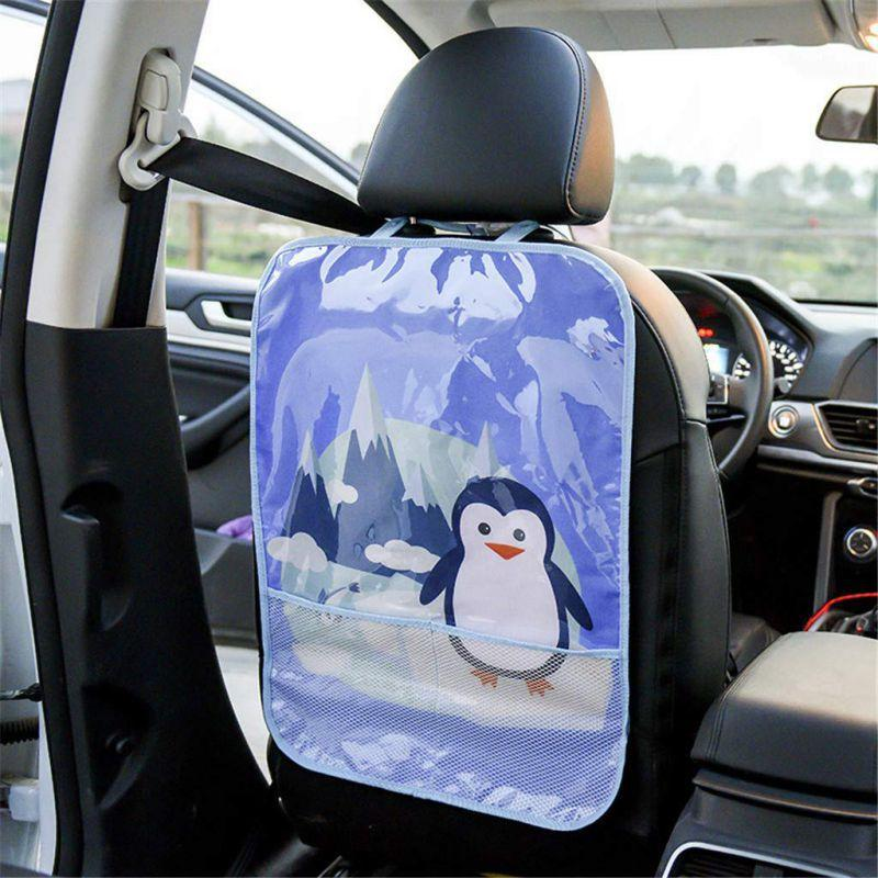 2-Pack - Waterproof Backseat Cover Child Accessory for Protection Against Dirt Car Protector Kick Mats Seat Covers Mud Stains