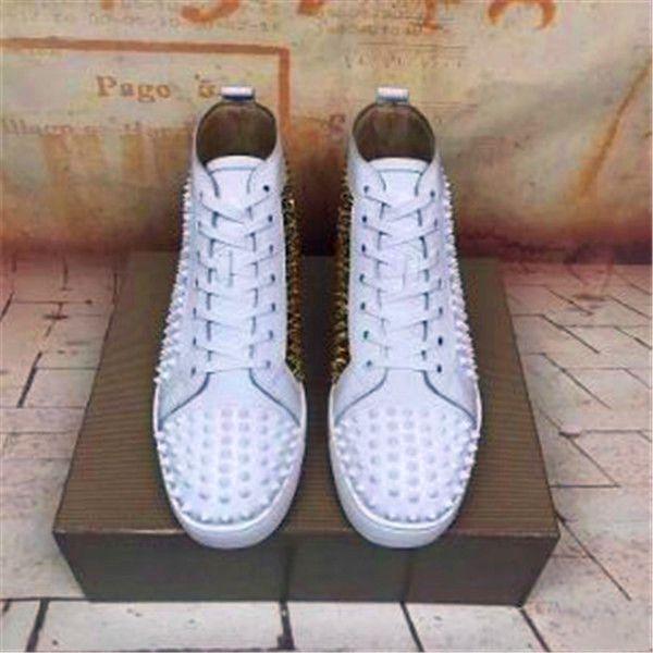 I nuovi mens di arrivo delle donne di cuoio materia nera con punte nere alte scarpe da ginnastica, uomini del progettista causale scarpe sportive goccia CQ049 spedizione